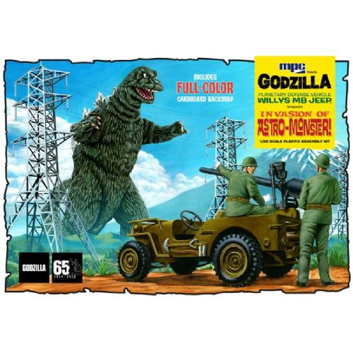 Godzilla Army Jeep Model Kit By MPC